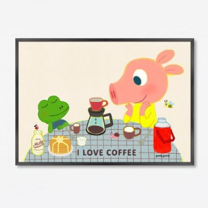 FRAME ART_F /  I Love Coffee (09)